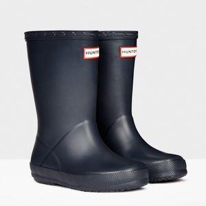 Hunter Original Kids First Classic Rain Boots Navy